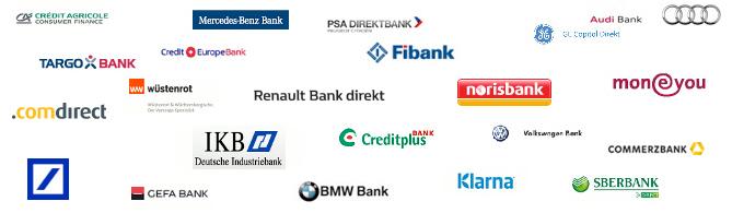 Festgeld Bankenlogos