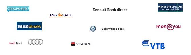 Tagesgeld Banken Logos