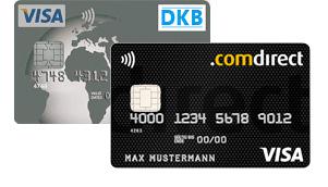 DKB und comdirect Visa Karten